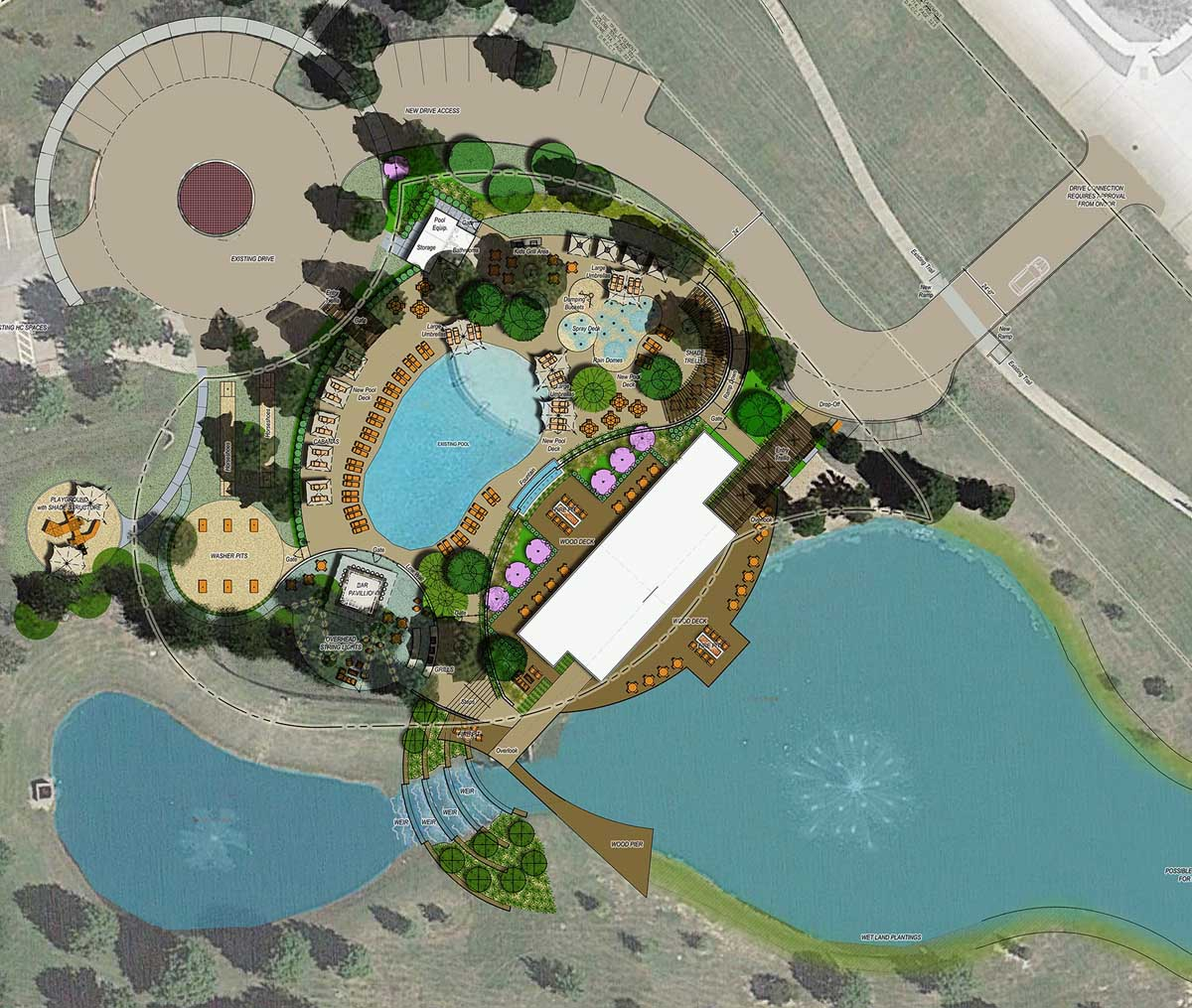 01 RESORT AMENTY CENTER - SITE PLAN