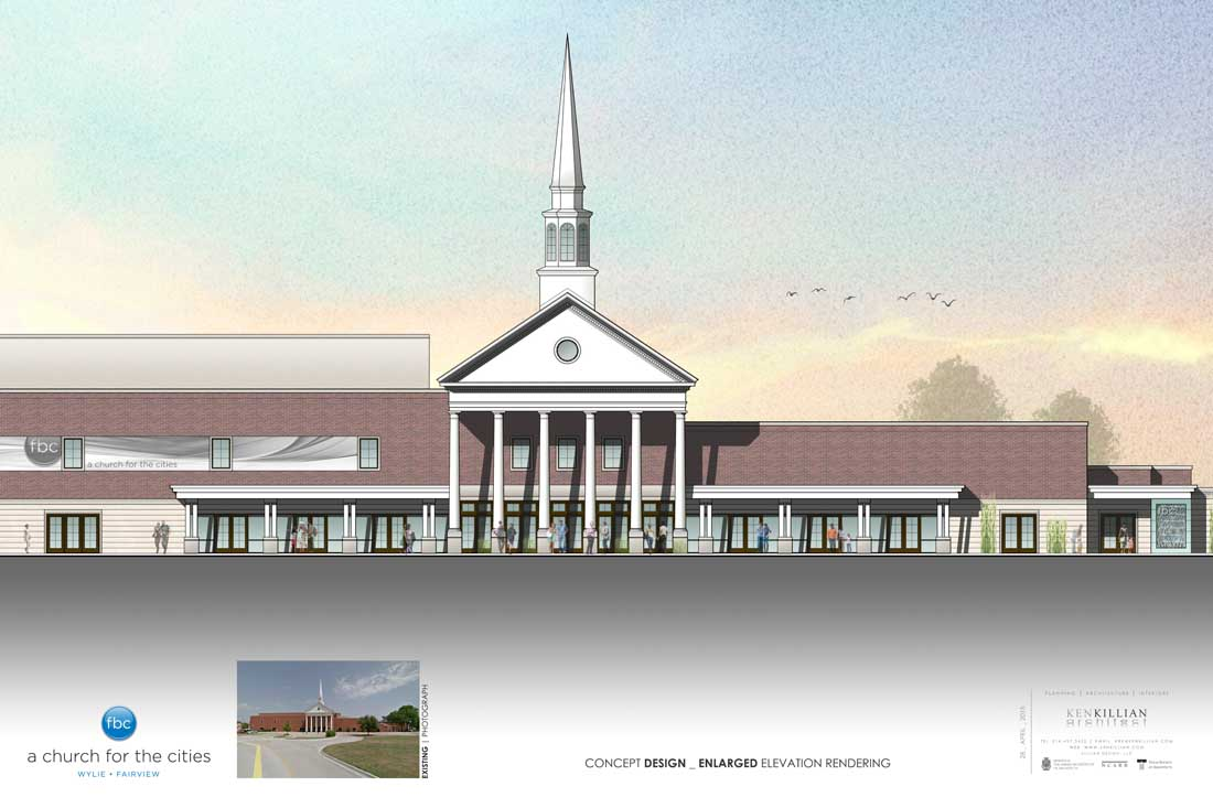 FBC WYLIE - Enlarged ELEVATION