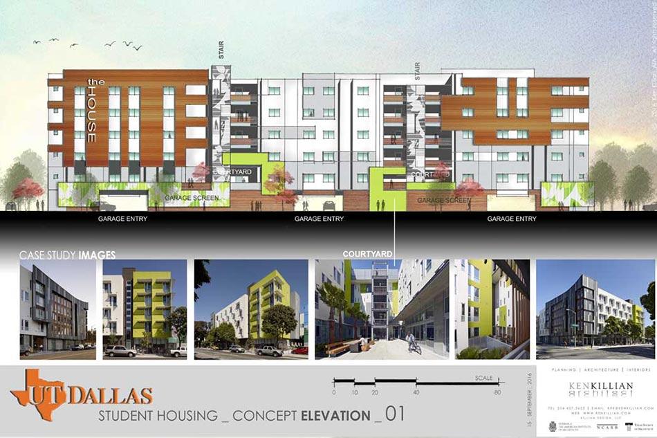UTD-STUDENT HSG - Concept Elevation
